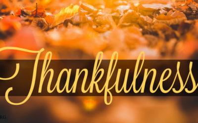 3 Weeks of Thankfulness: Week 3